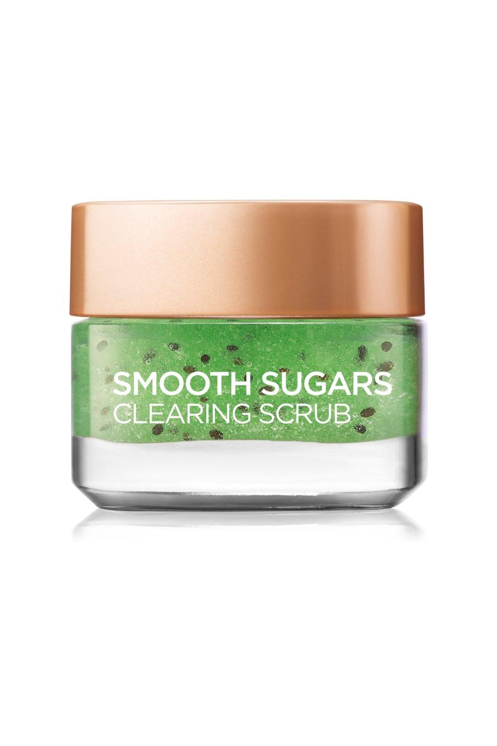 loreal paris smooth sugars scrub cistici peeling proti cernym teckam