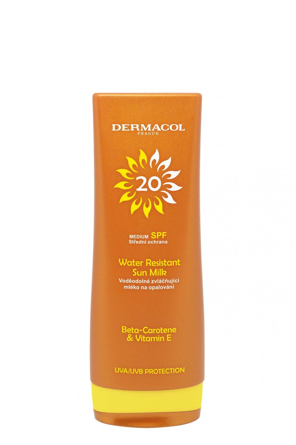 dermacol sun water resistant vodeodolne mleko na opalovani s betakarotenem spf 20