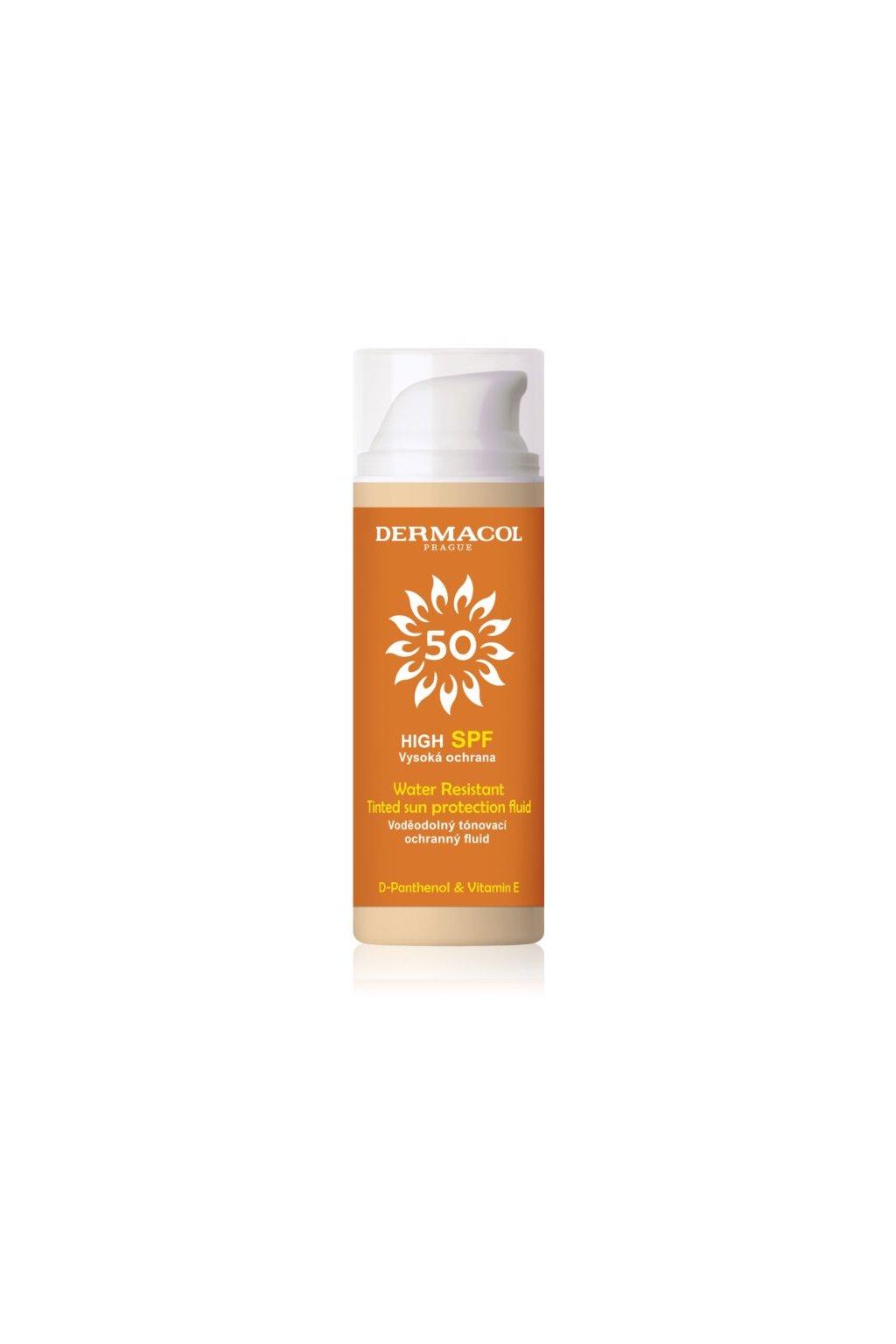 dermacol sun water resistant tonovaci vodeodolny pletovy fluid s vysokou uv ochranou