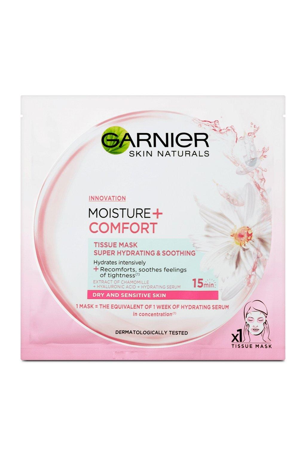 garnier skin naturals moisture comfort textilni maska 32 g