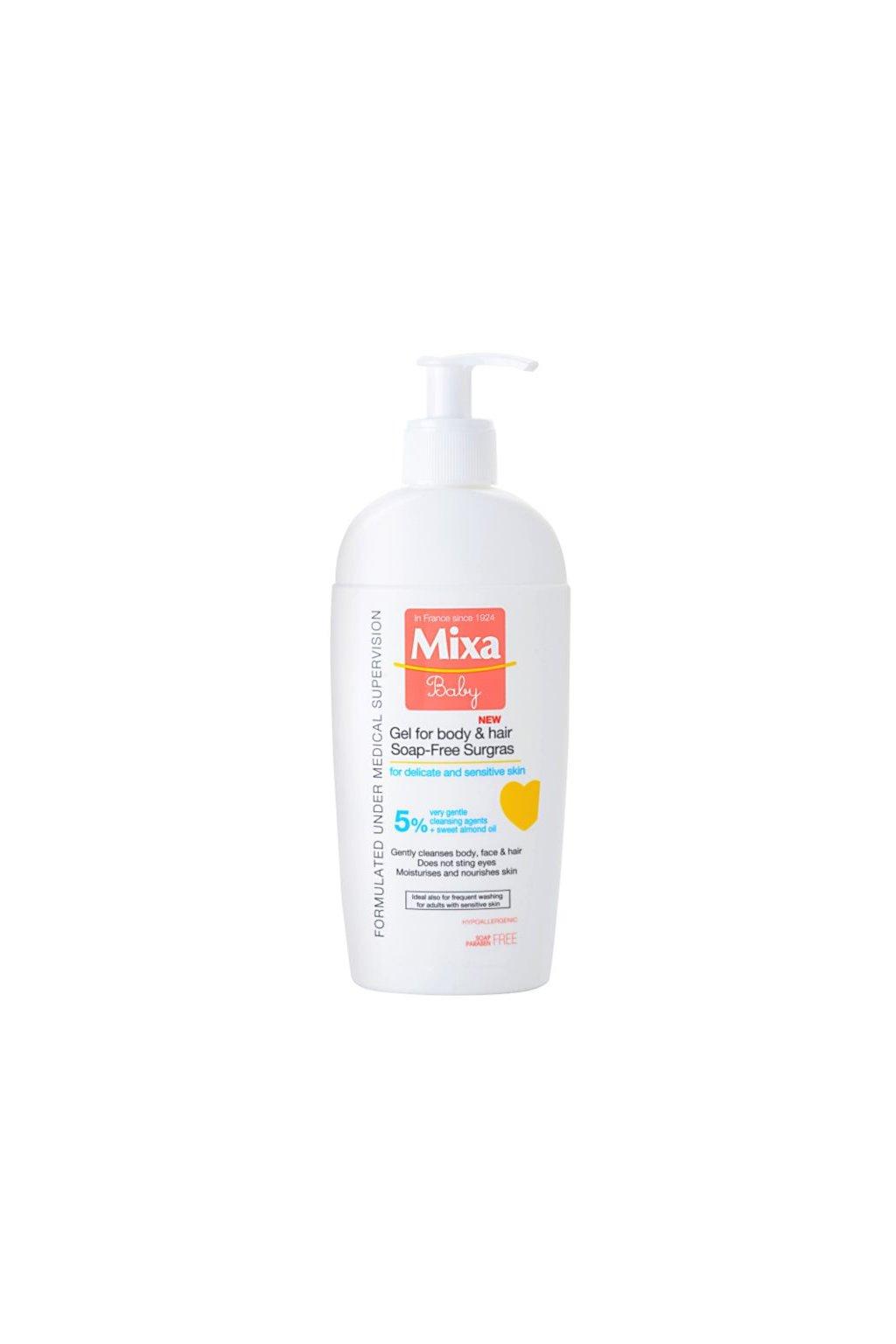 mixa baby sprchovy gel a sampon 2 v 1 pro deti