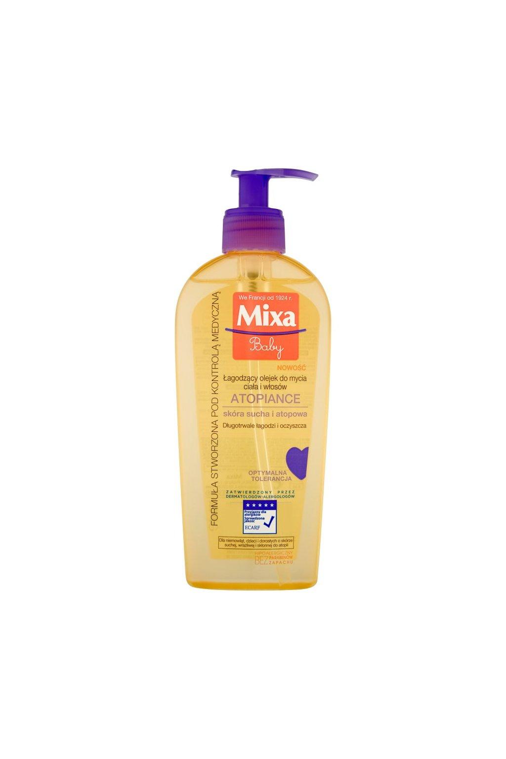 mixa atopiance zklidnujici telový a vlasovy olej pro velmi suchou citlivou pokozku a pro pokozku se sklony k atopii