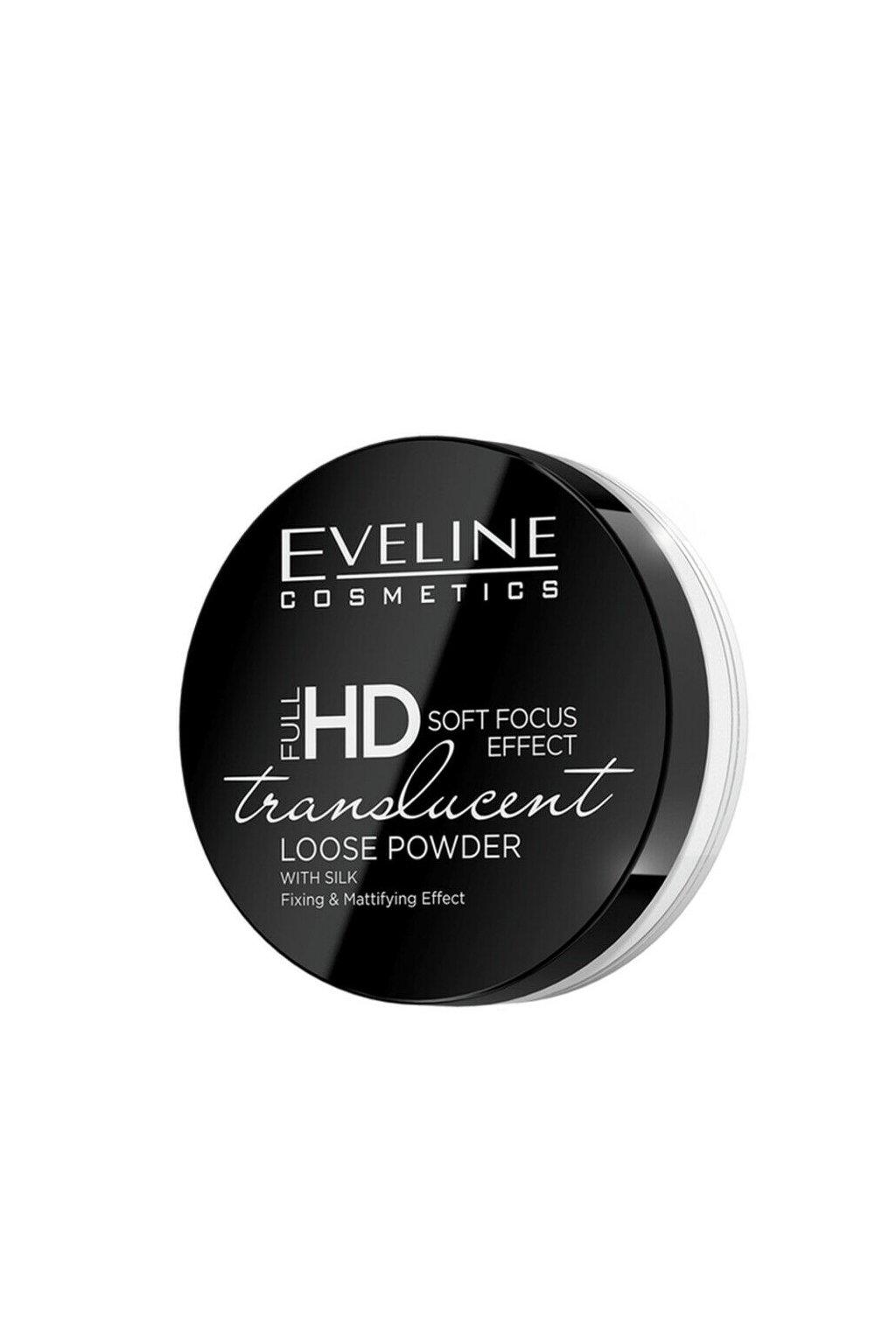 Eveline Cosmetics Full HD Translucent White Powder pudr s hedvabim