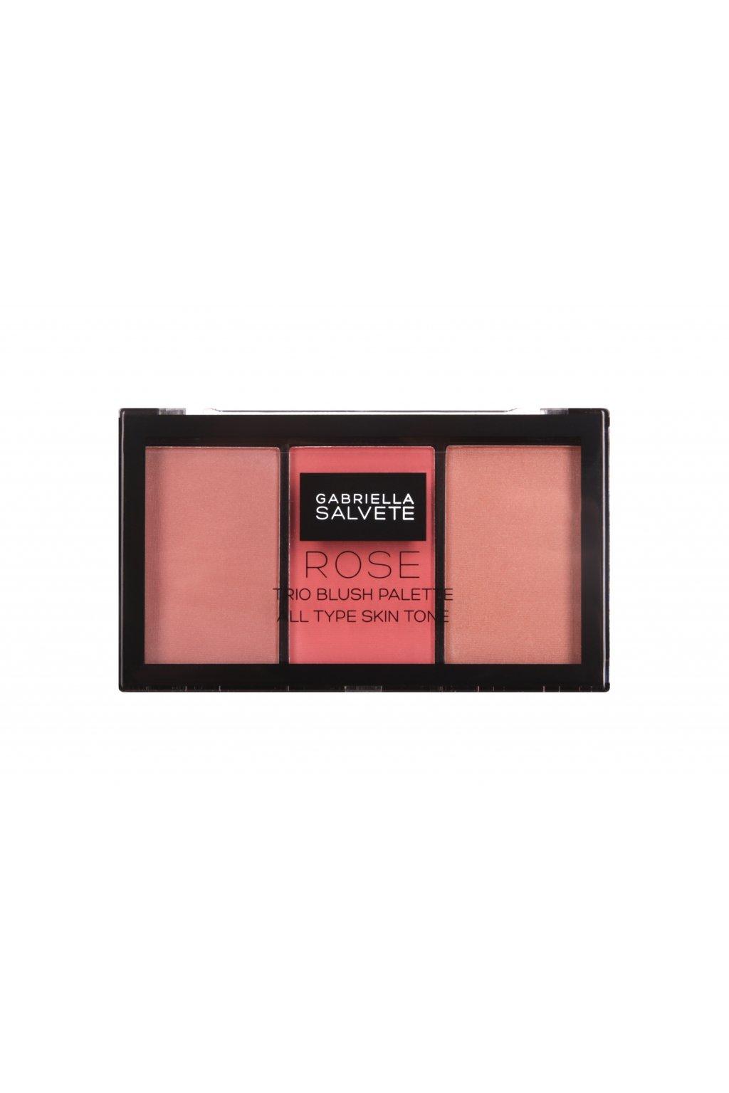 gabriella salvete trio blush palette tvarenka pro zeny 15 g odstin 02 rose