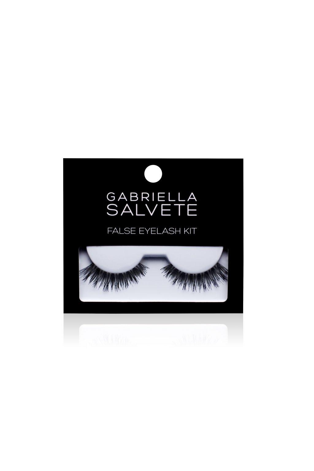 gabriella salvete false eyelashes spf30 darkova kazeta pro zeny umele rasy 1 par lepidlo na rasy 1 g