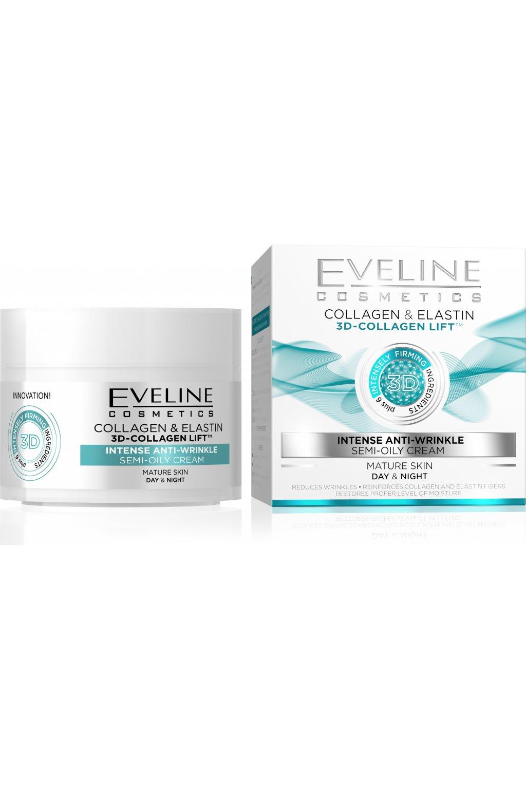 eveline cosmetics D COLLAGEN LIFT INTENSE ANTI WRINKLE DAY NIGHT CREAM 50ML