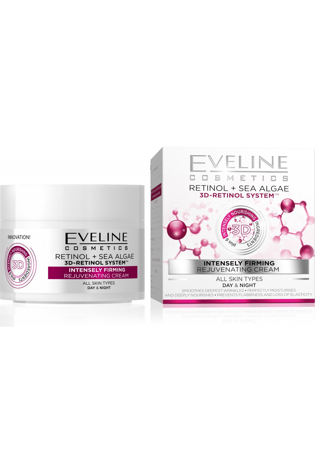 eveline cosmetics 3d retinol a morske rasy intenzivni denni a nocni krem