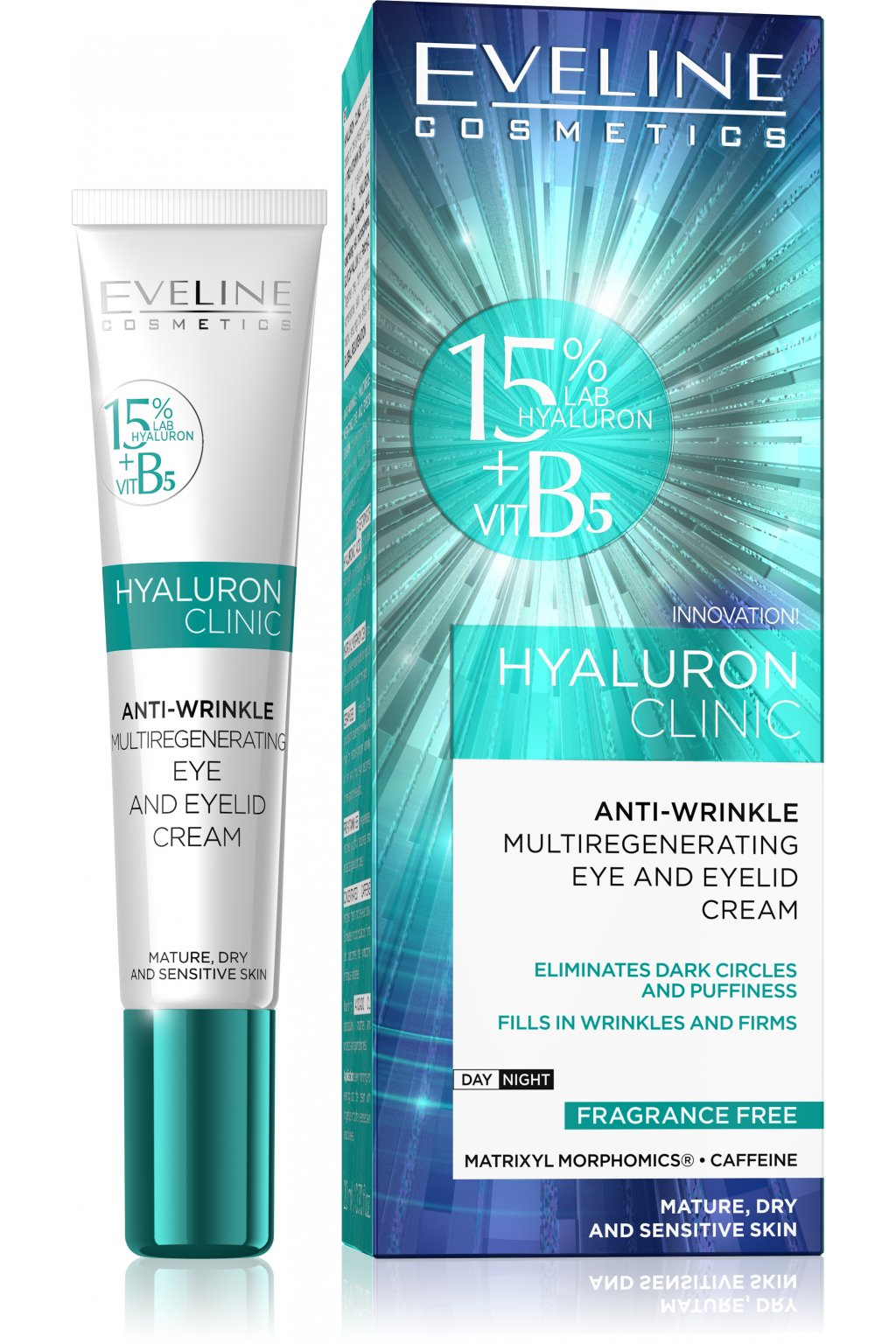 eveline cosmetics hyaluron clinic eye and eye lid cream