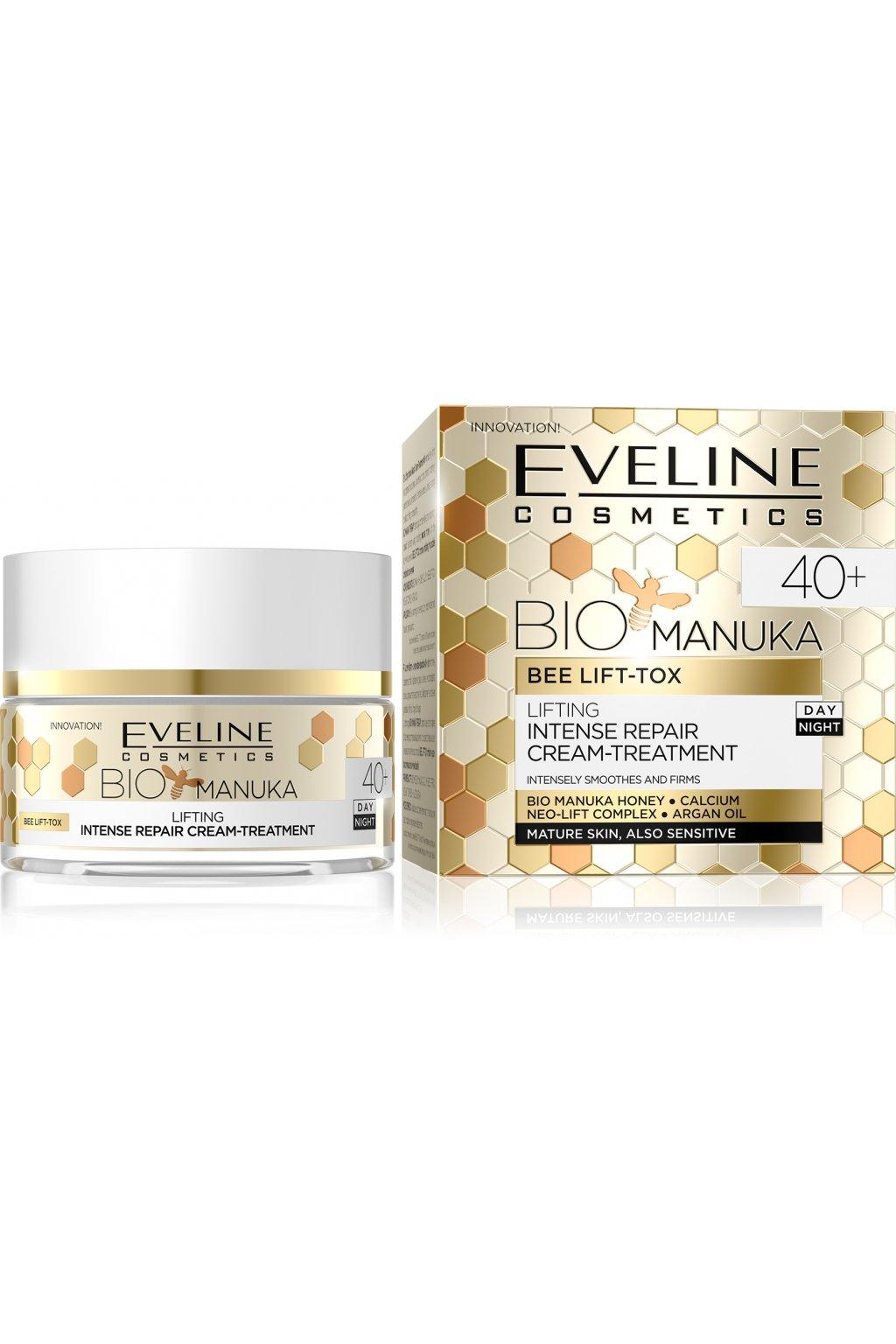 eveline cosmetics bio manuka zpevnujici a vyhlazujici krem 40