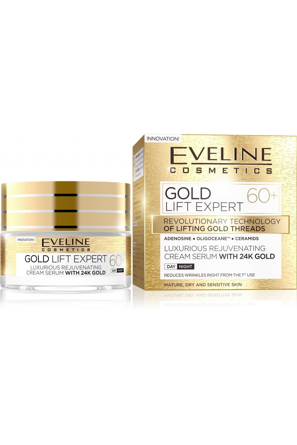 eveline cosmetics gold lift expert denni a nocni krem 60 s omlazujicim ucinkem