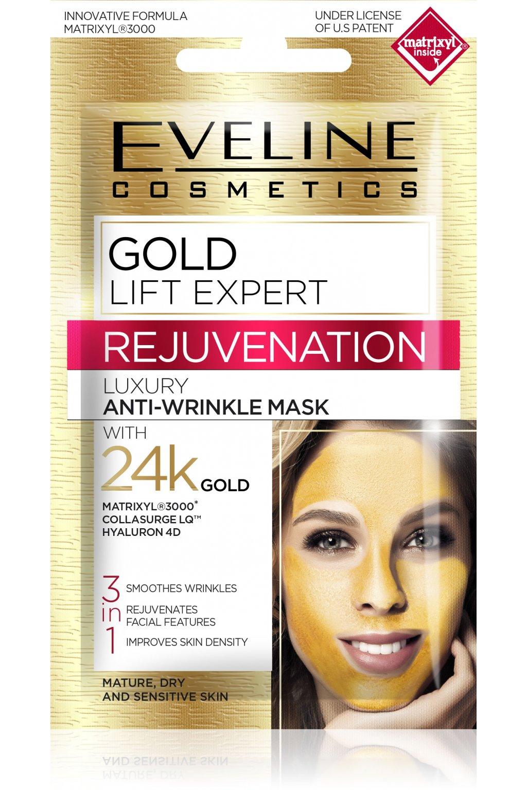 eveline cosmetics gold lift expert omlazujici pletova maska 7 ml
