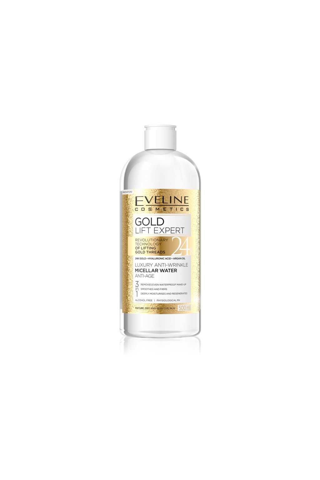 eveline cosmetics gold lift expert cistici micelarni voda pro zralou plet