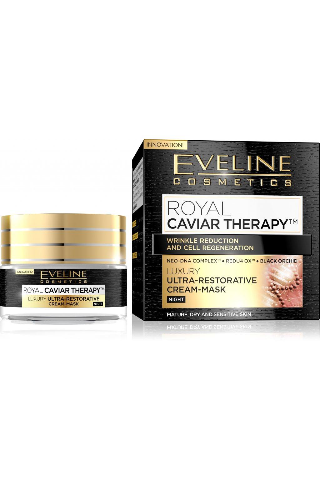 eveline cosmetics royal caviar pletovy krem nocni s kaviarovou peci