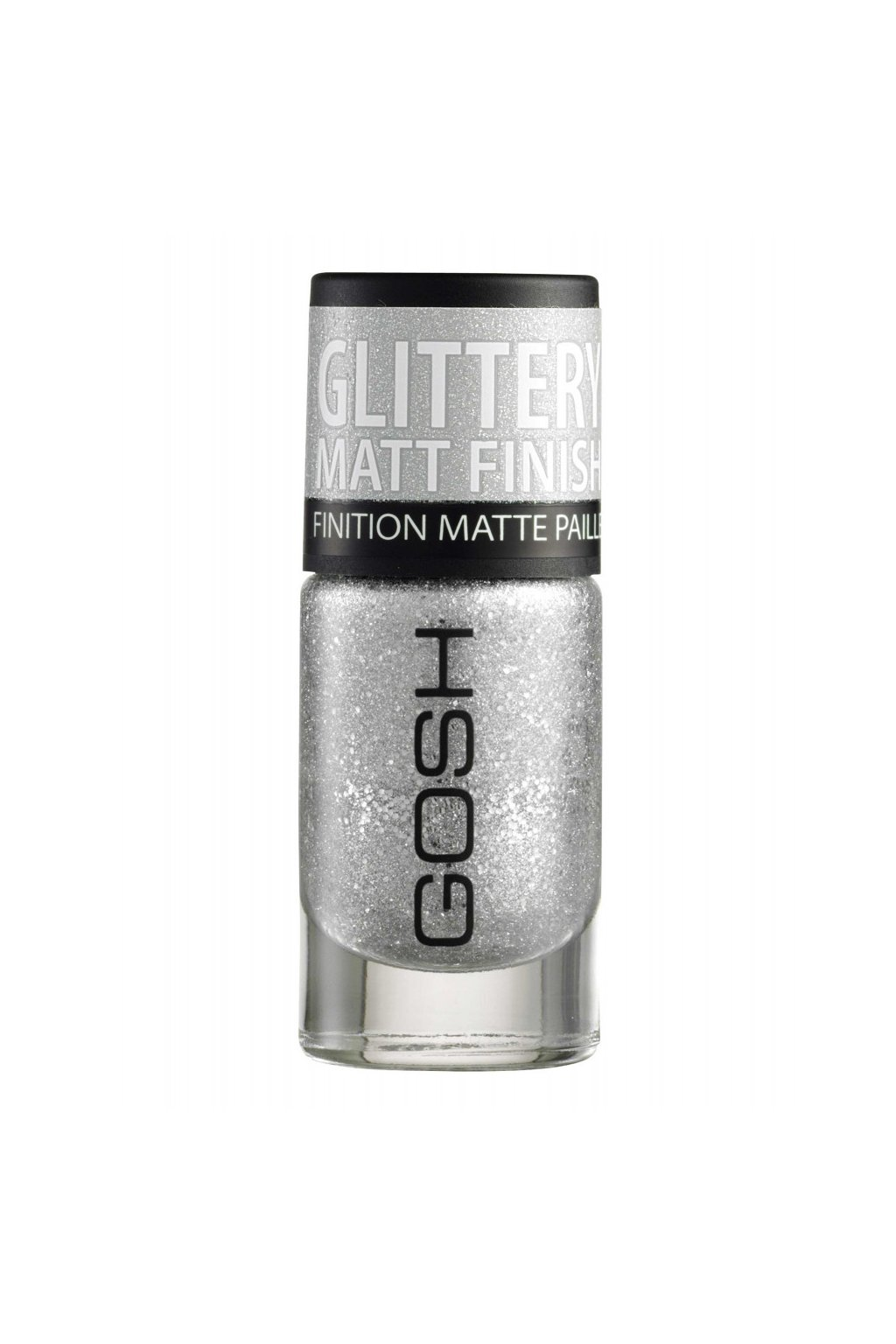 gosh frosted nail lacquier lak na nehty odstin 01 Frosted Silver