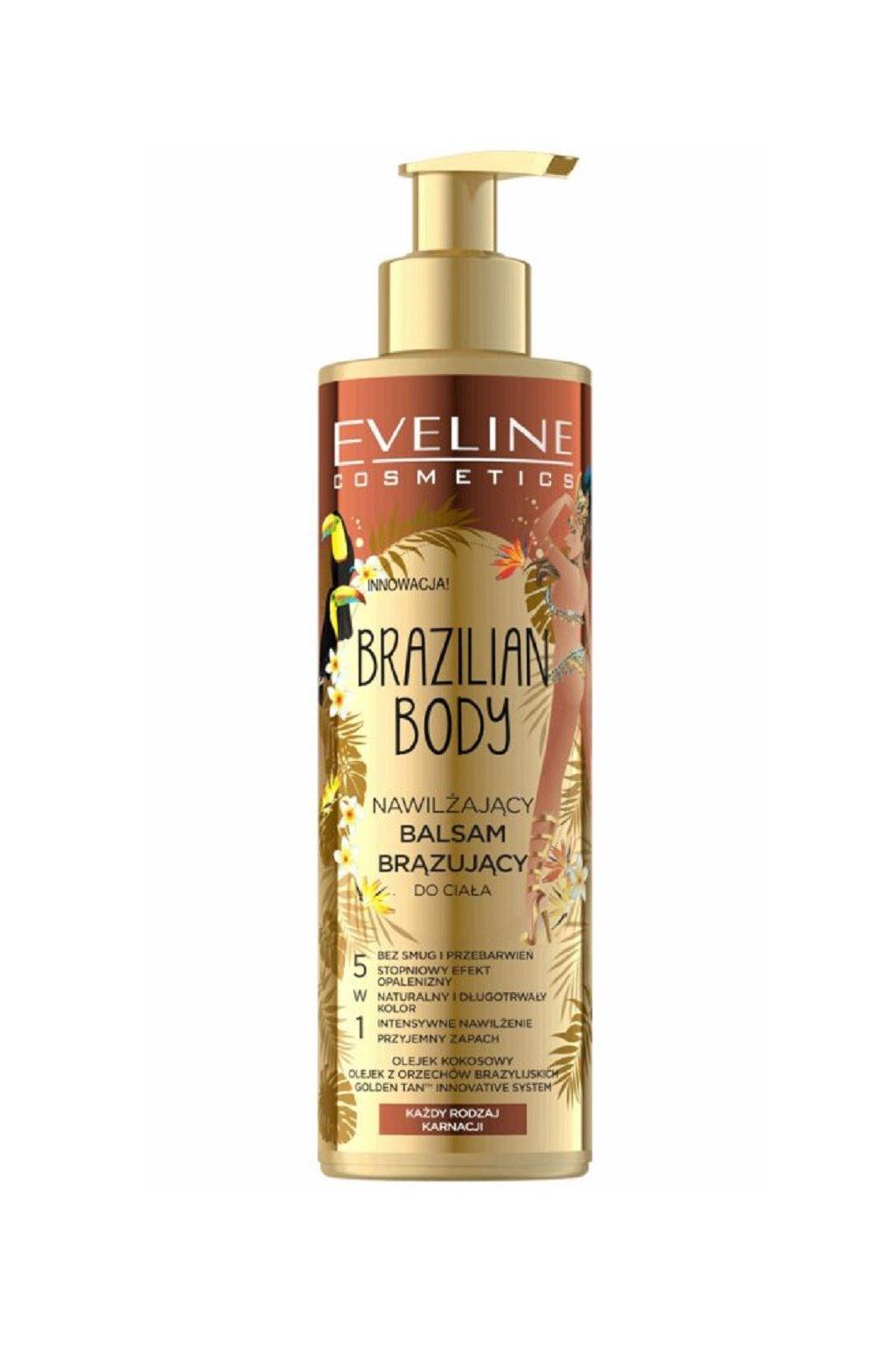 eveline cosmetics brazilian body hydratacni samoopalovaci balzam na telo 1