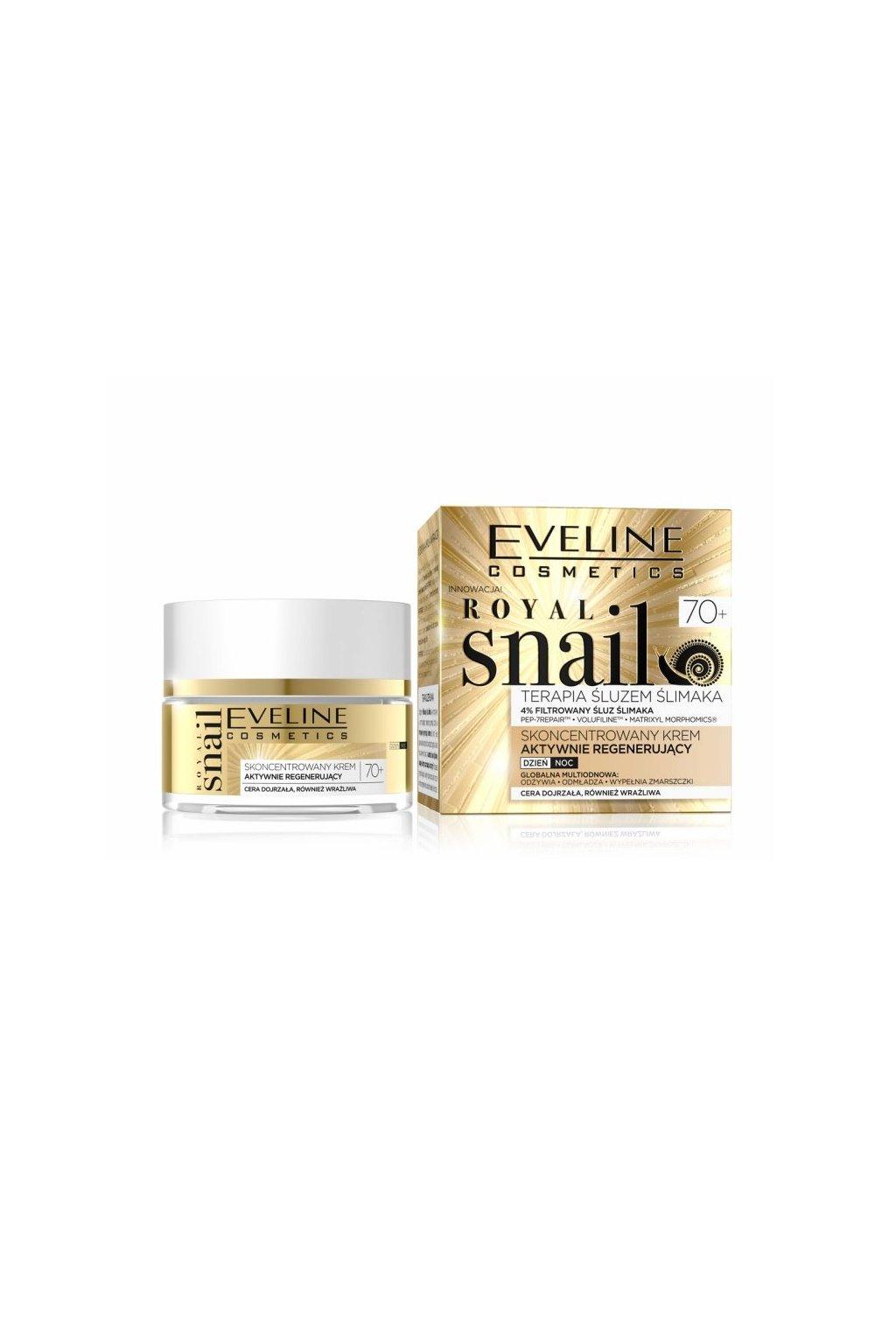 eveline cosmetics royal snail 70 pletovy krem pro zralou plet hlemyzdi sliz