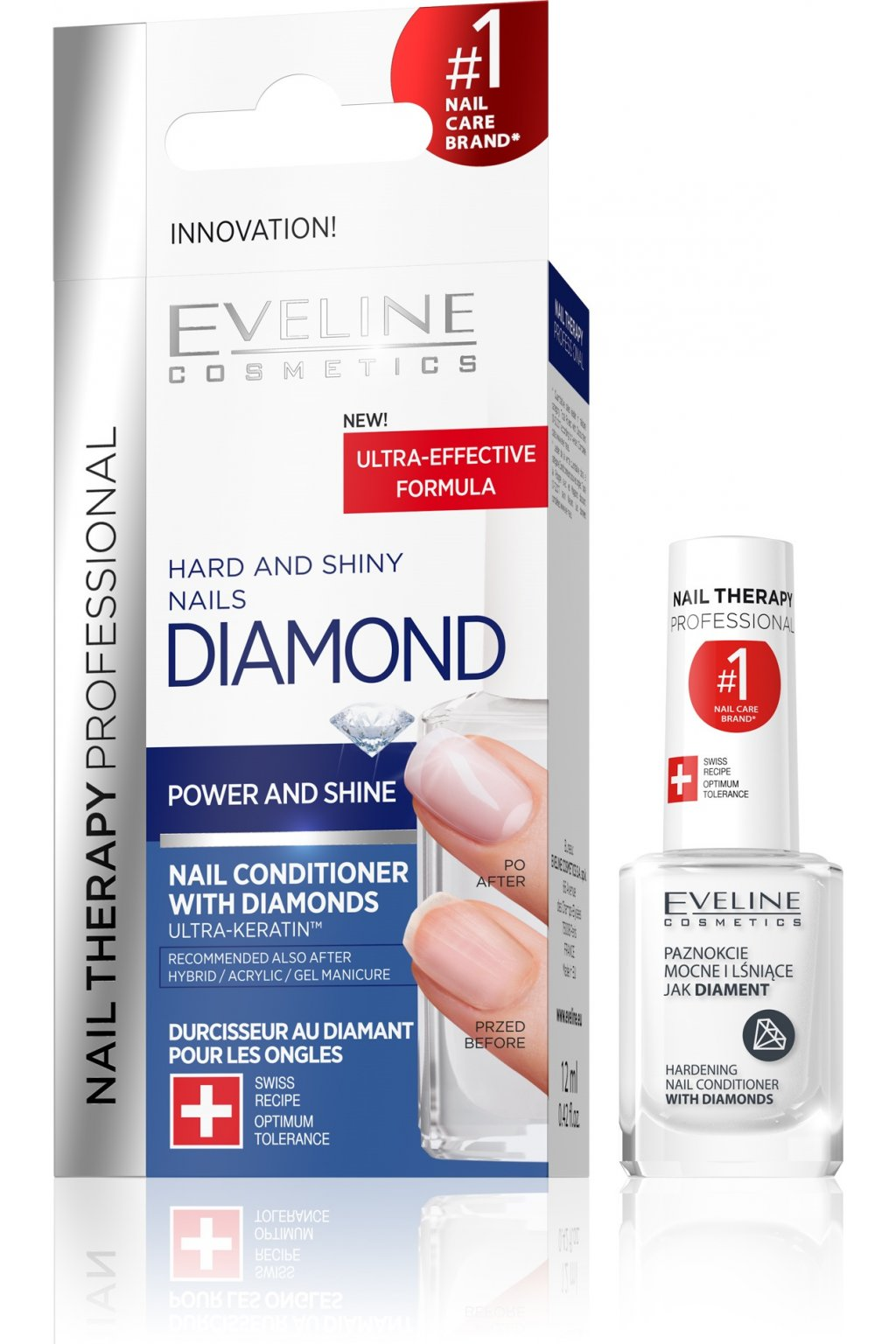 eveline cosmetics NAIL THERAPY DIAMOND kondicioner na nehty 12ml