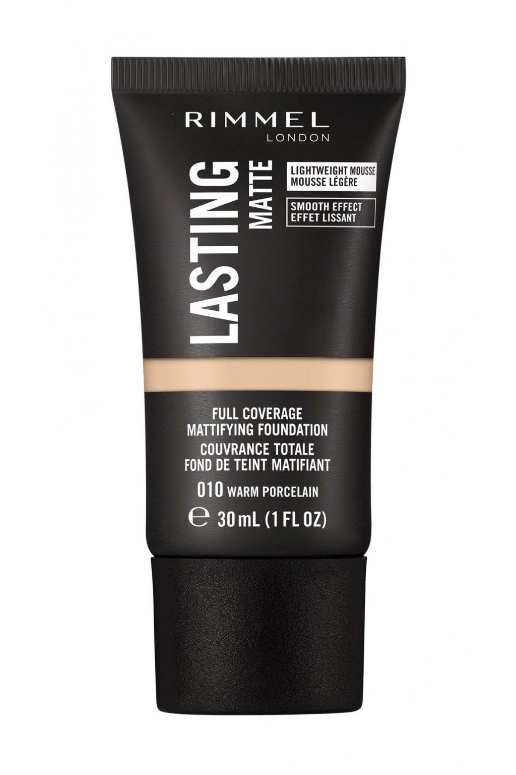 rimmel dlouhotrvajici make up lasting matte full coverage mattifying foundation 30 ml 010