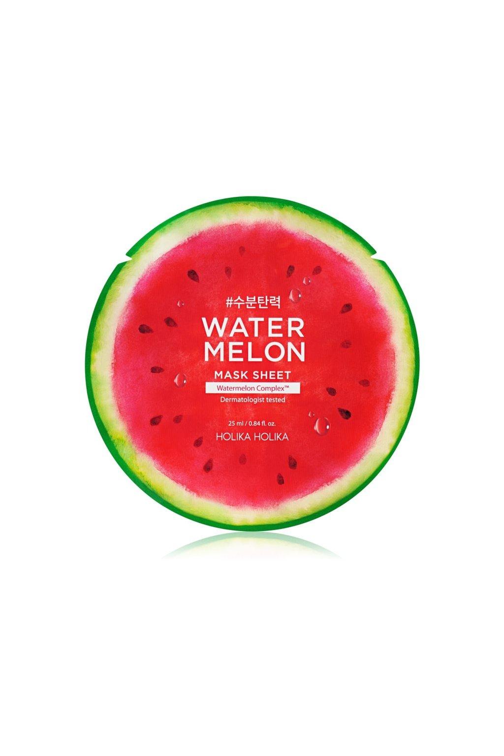 holika holika watermelon mask platynkova maska s hydratacnim a zklidnujicim ucinkem