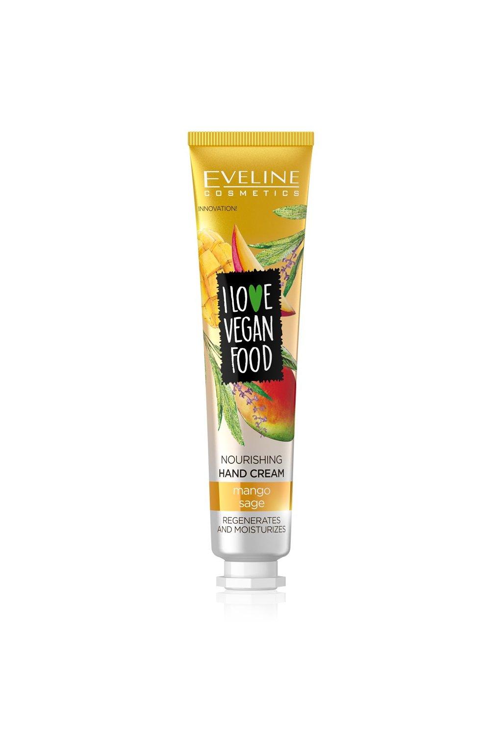 eveline cosmetics I LOVE VEGAN FOOD NOURISHING HAND CREAM MANGOSAGE 50ML
