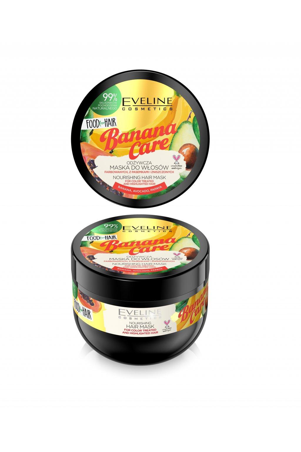 eveline cosmetics FOOD FOR HAIR BANANA CARE HAIR MASK 500ML
