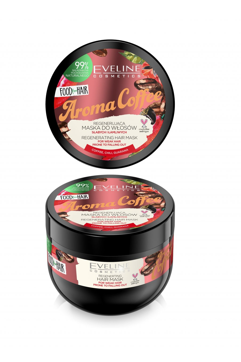eveline cosmetics FOOD FOR HAIR AROMA COFFEE HAIR MASK 500ML