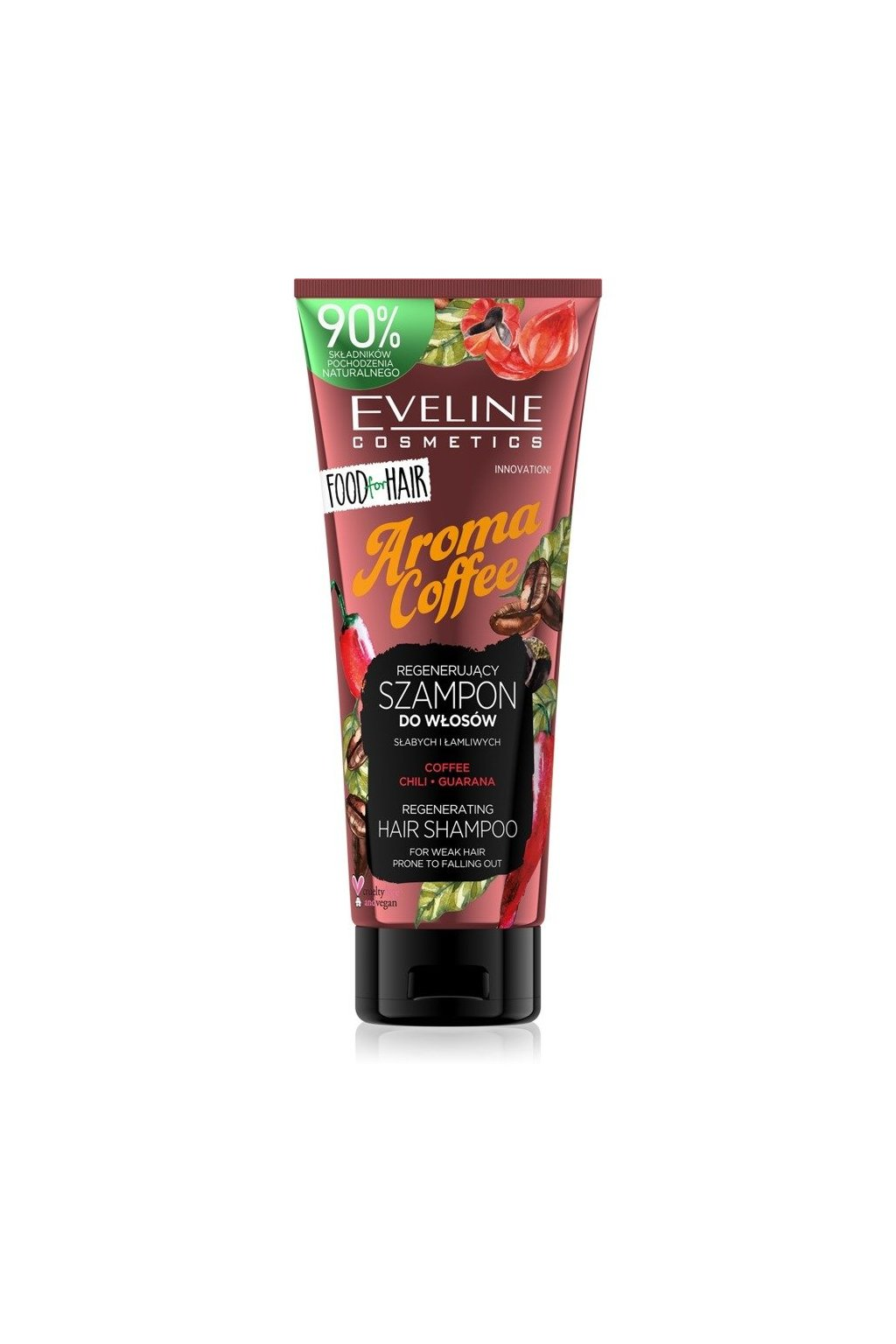 eveline cosmetics food for hair aroma coffee posilujici sampon pro slabe vlasy s tendenci vypadavat 250