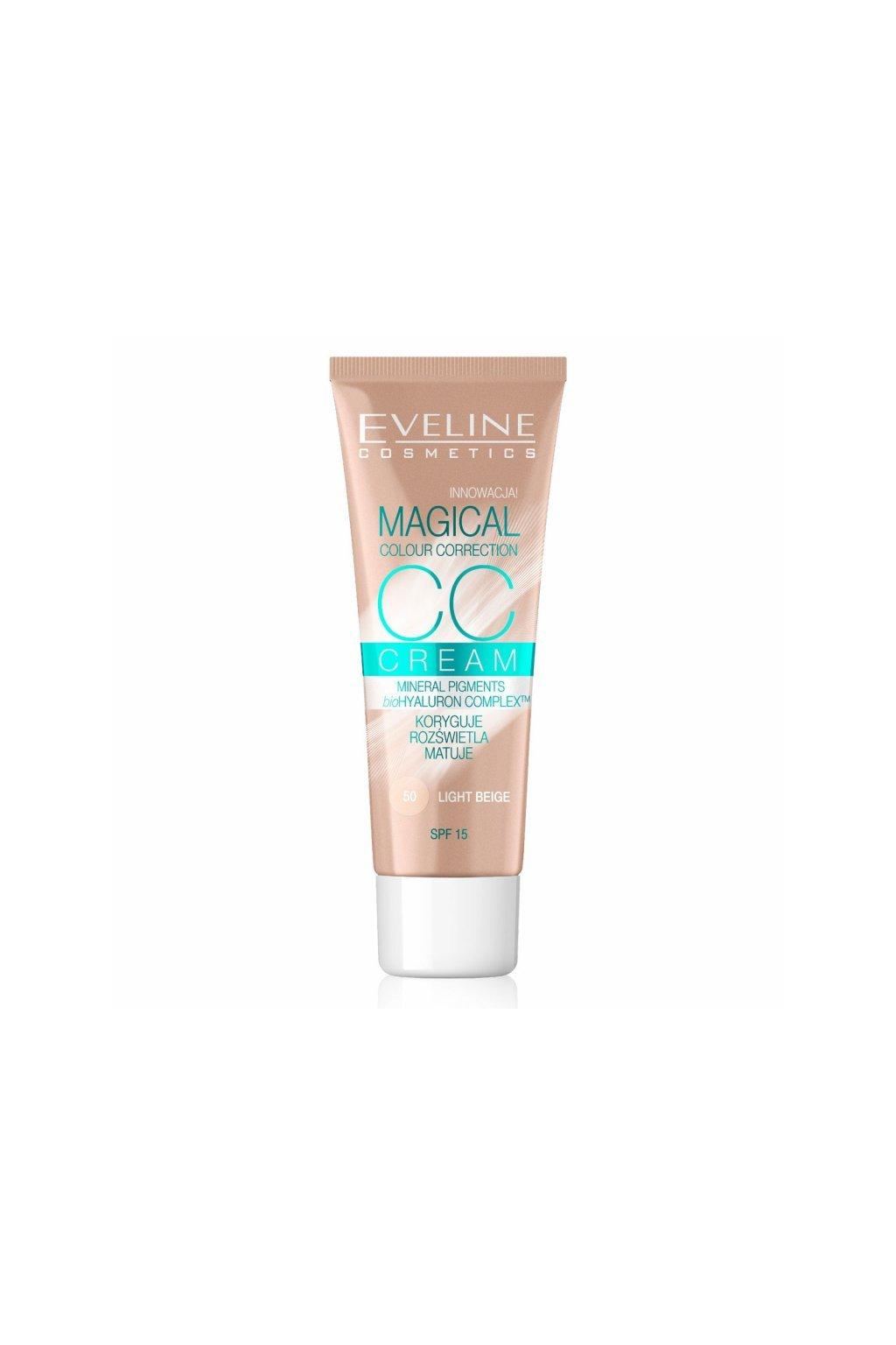 eveline cosmetics cc tonovaci krem s mikrocasticemi pro spravne zabarveni pleti odstin 50