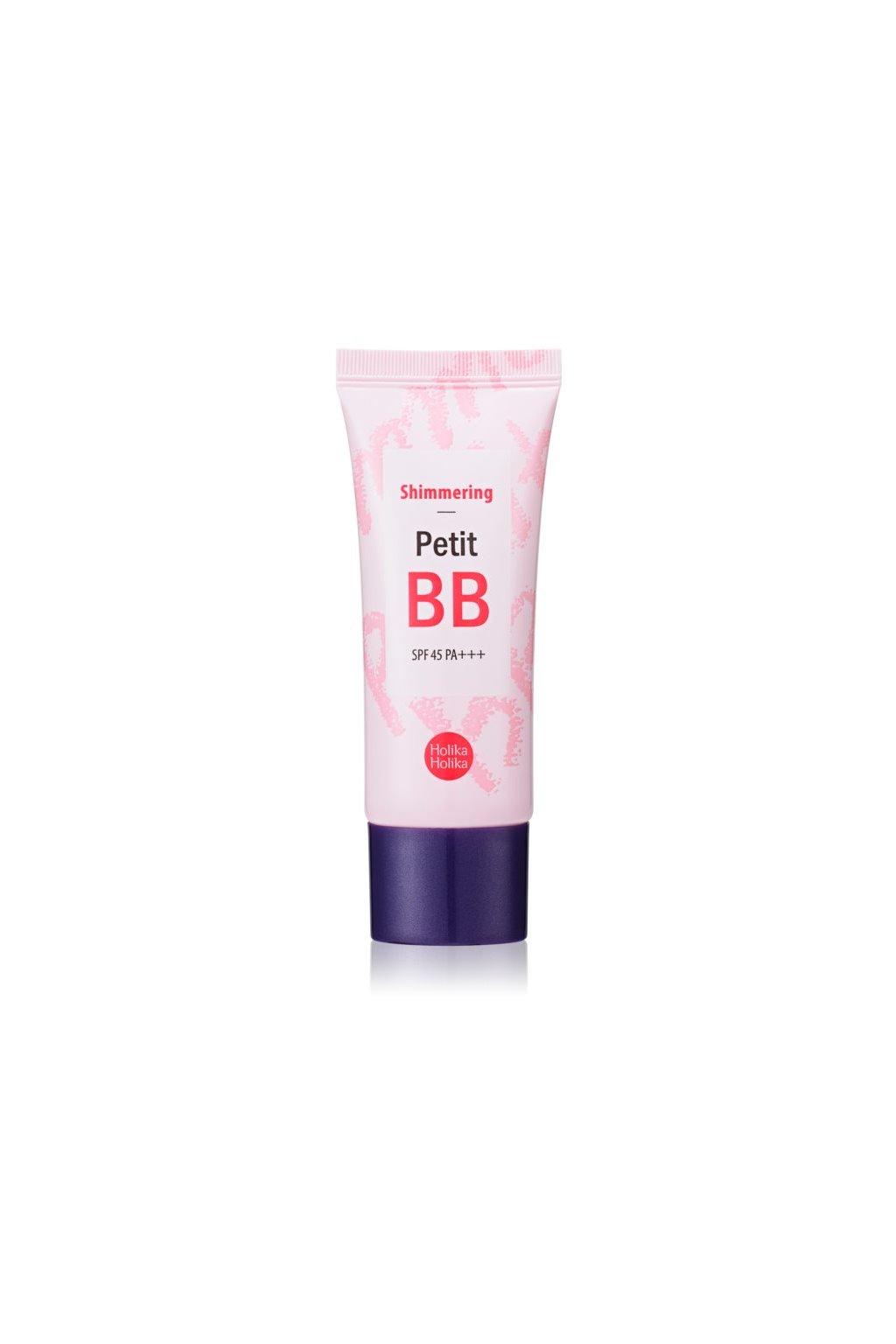 holika holika petit bb shimmering rozjasnujici bb krem spf 40