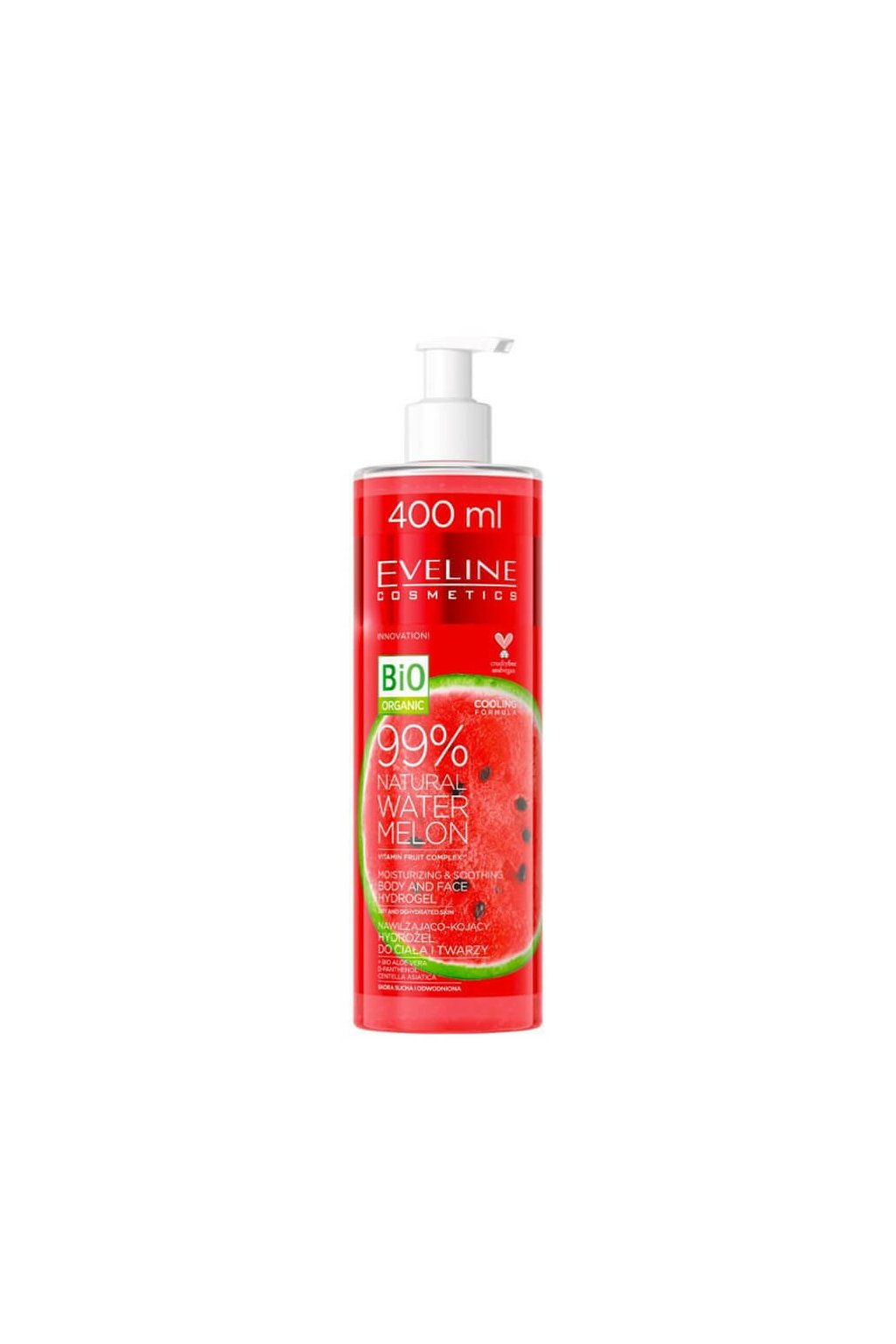 Eveline cosmetics Natural Watermelon Face and Body Hydro gel 400ml