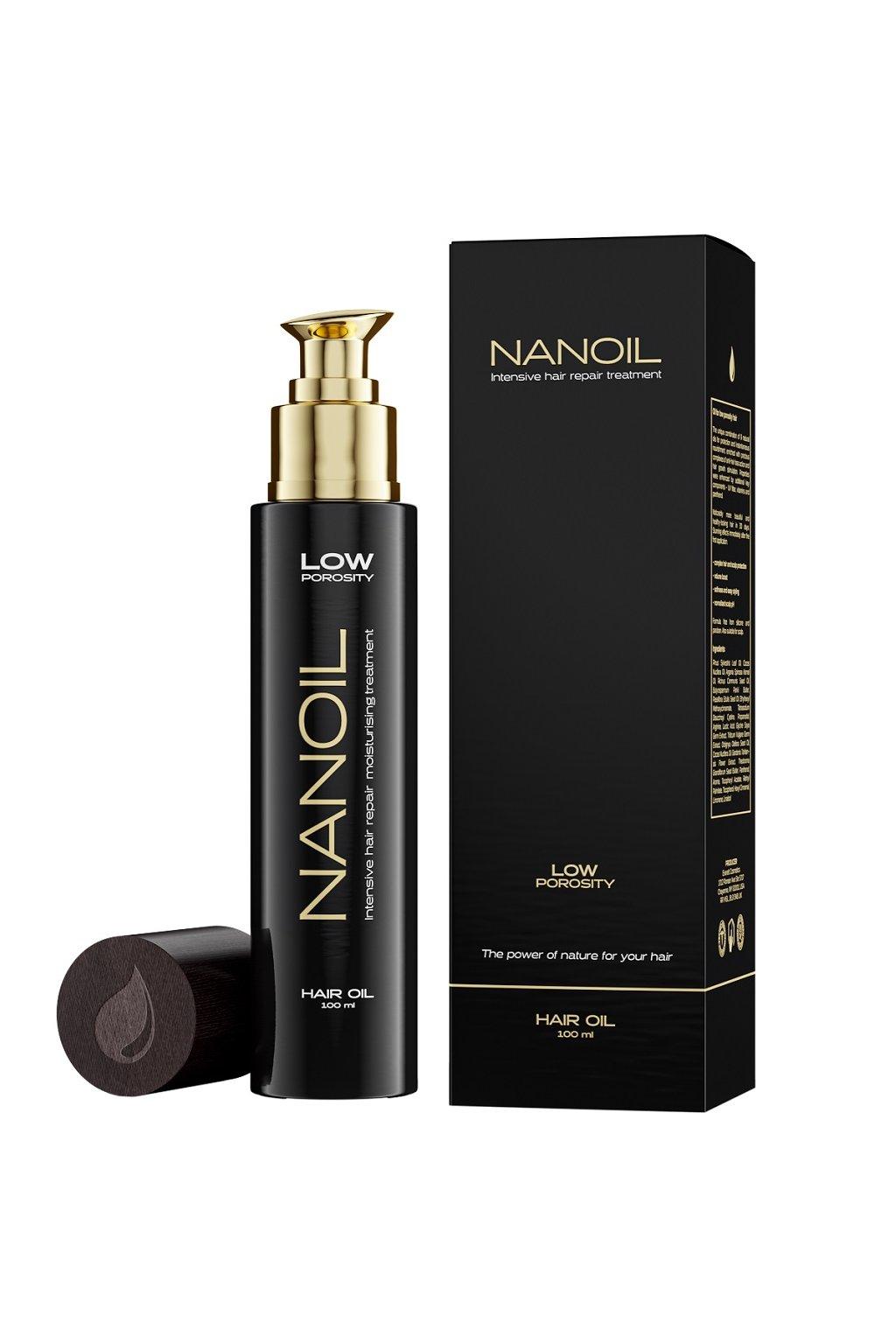 nanoil low porosity Vlasovy olej pro vlasy s nizkou porozitou 100 ml