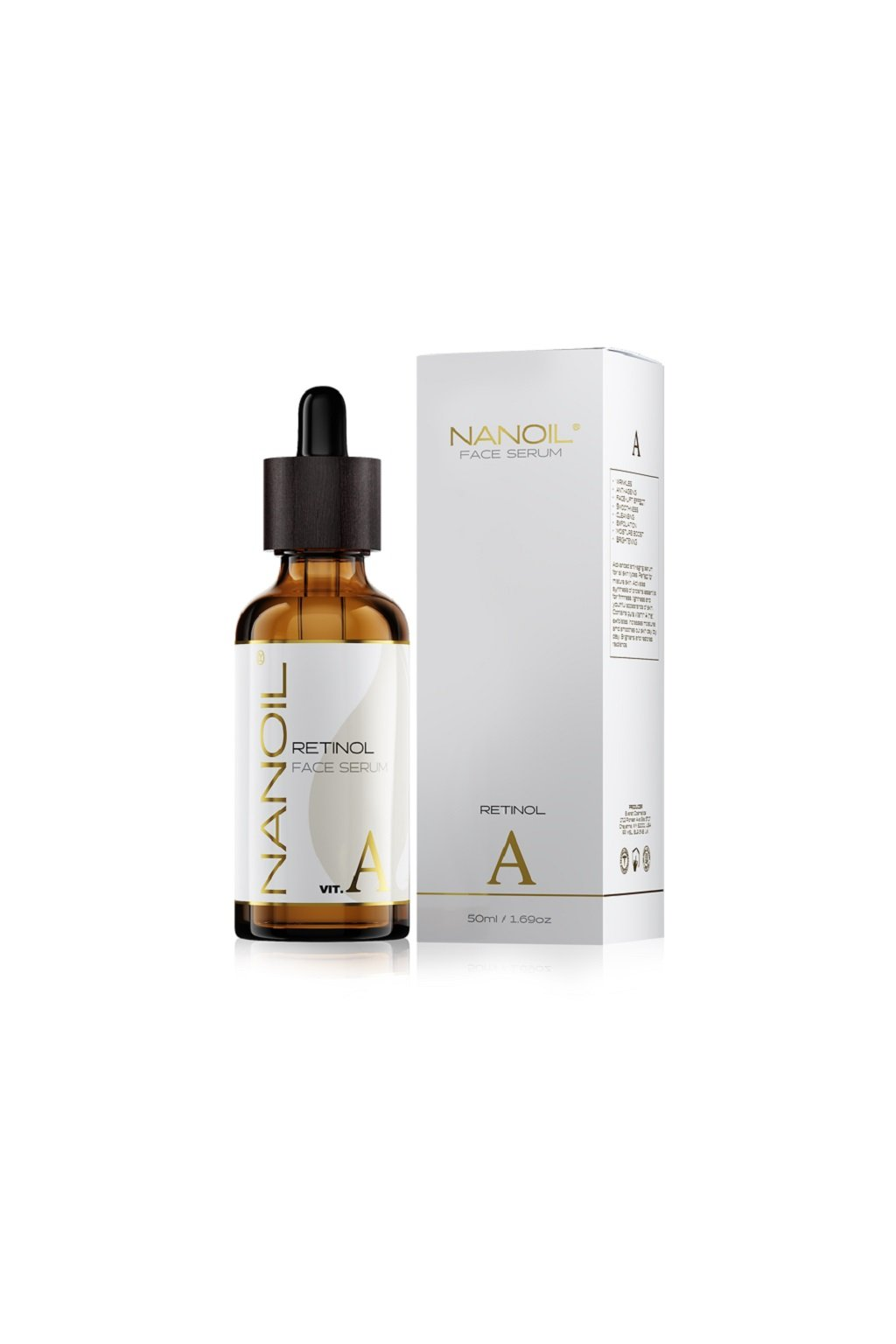 nanoil Retinol faceserum pletove serum s retinolem 50 ml