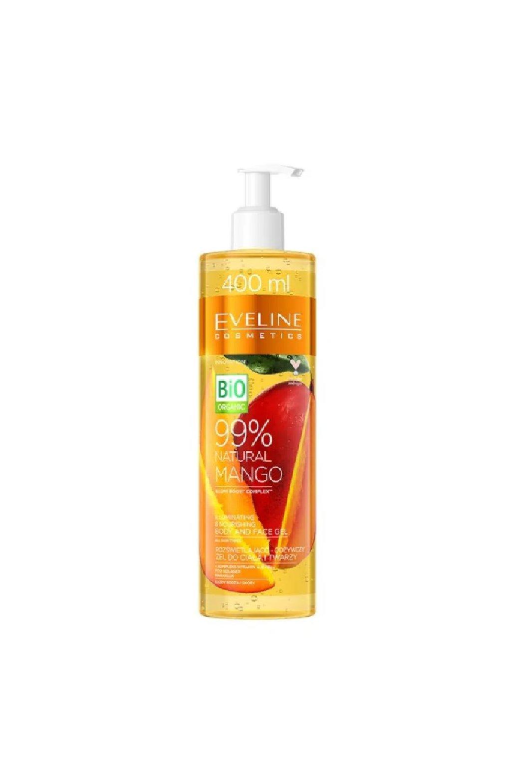 Eveline cosmetics Bio Organic 99 Natural mango body and face gel 400ml 1