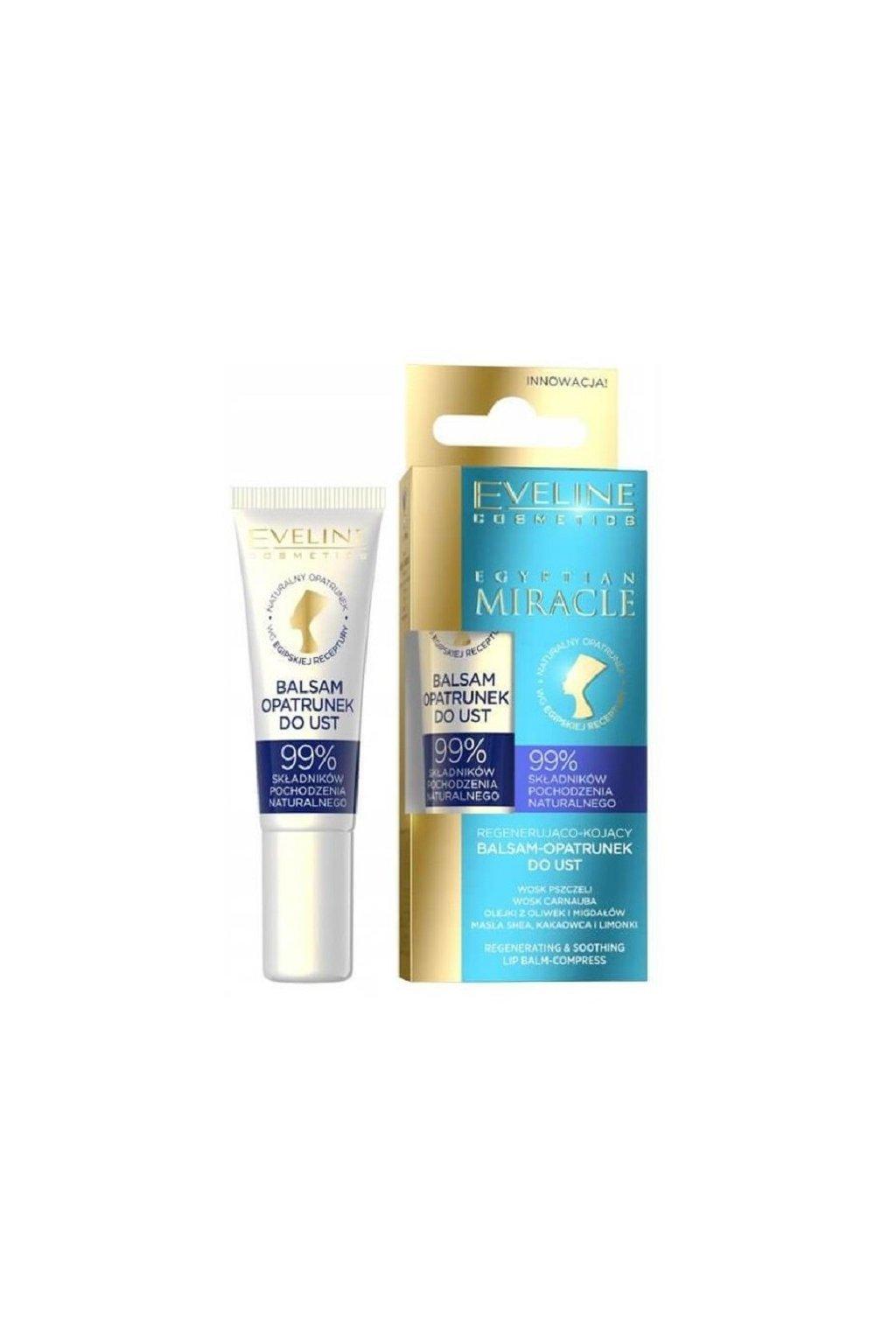 eveline cosmetics egyptian miracle regenerujici balzam na rty 12ml