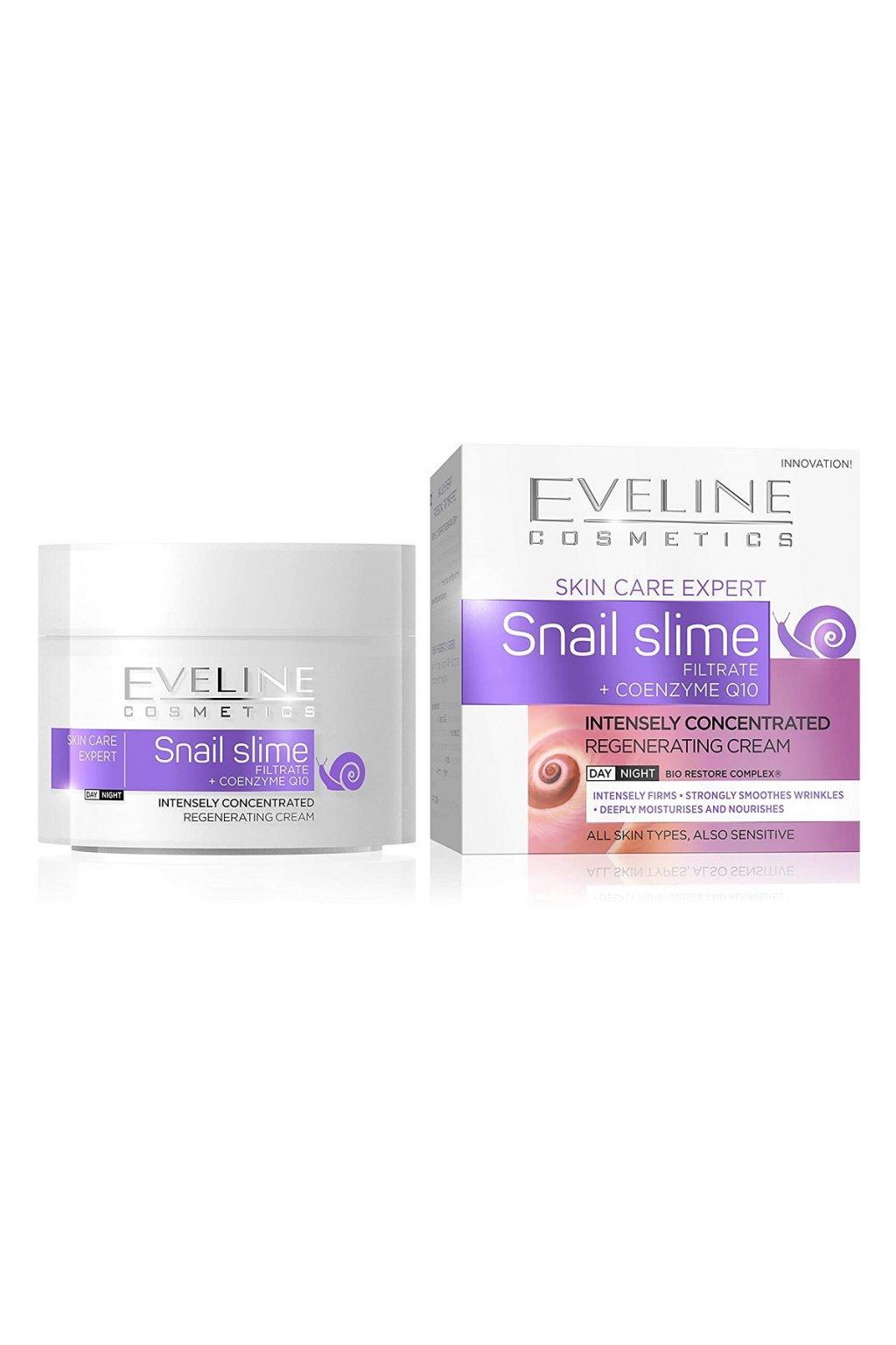 eveline cosmetics snail slime regenerujici pletovy krem 50 ml