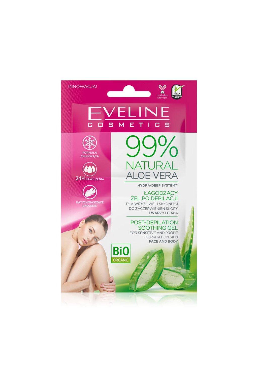 Eveline cosmetics 99 Natural Aloe Vera gel po depilaci 72749 1