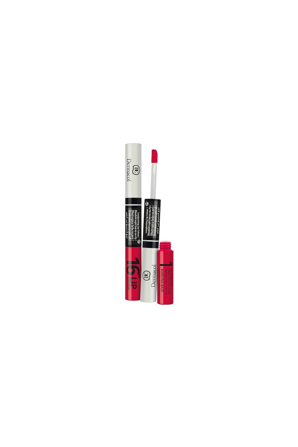 dermacol 16h lip colour dlouhotrvajici dvoufazova barva a lesk na rty