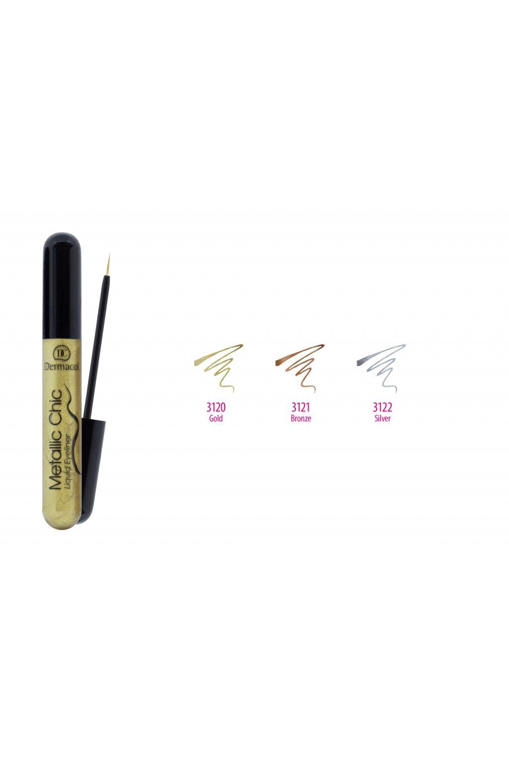 dermacol metallic chic liquid eyeliner 6ml