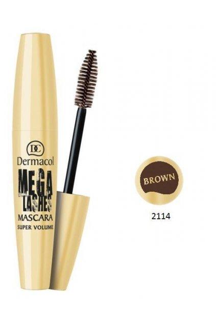 dermacol mega lashes mascara brown rasenka panoramaticky efekt
