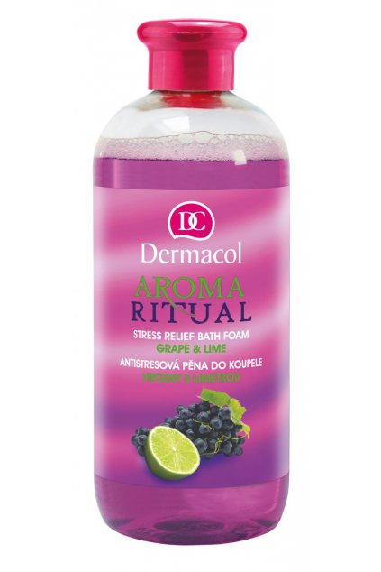 dermacol aroma ritual bath foam grape and lime pena do koupele hrozny s limetkou