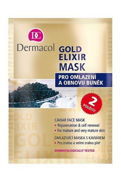 dermacol gold elixir pletova maska s kaviarem 24