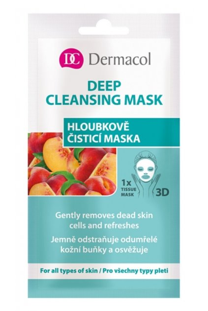 dermacol deep cleasing mask textilni 3d hloubkove cistici maska 15