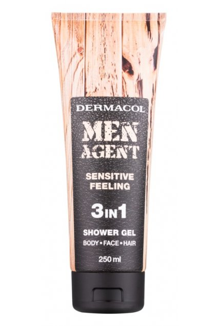 dermacol men agent sensitive feeling sprchovy gel 3 v 1 12