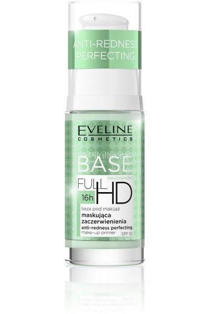 eveline cosmetics baze proti zarudnuti pod make up