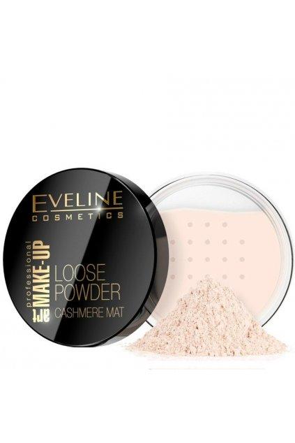 Eveline Cosmetics Cashmere Mat Pudr (Odstín 1 Transparent 20 g)