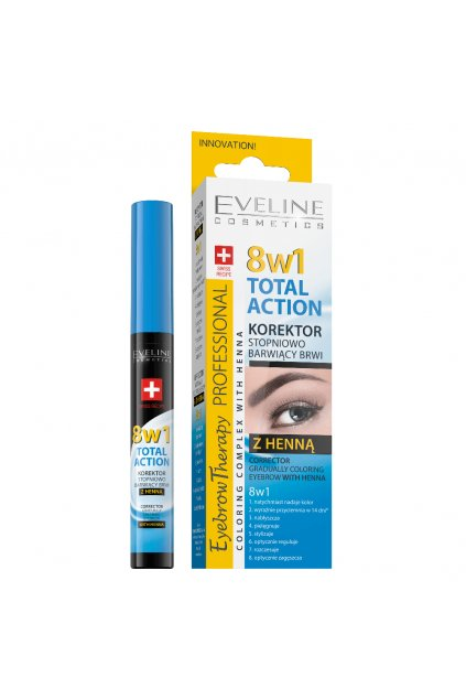 eveline cosmetics total action korektor na oboci s henou