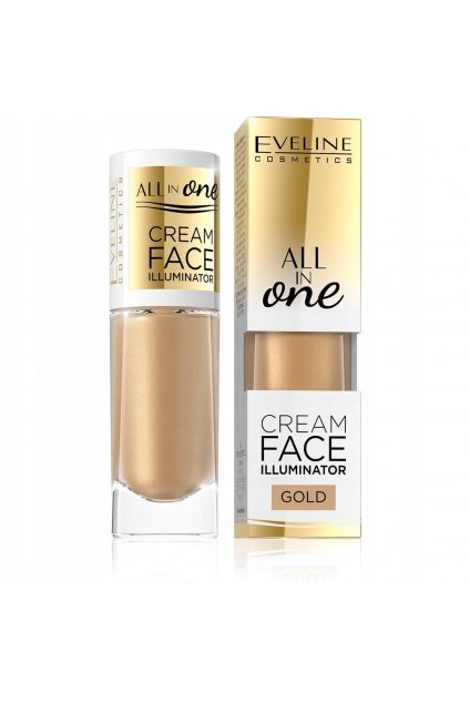eveline cosmetics all in one face cream illuminator rozjasnovac gold