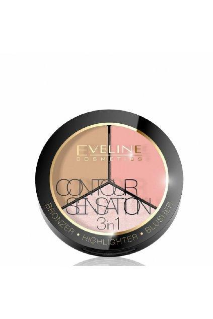 eveline cosmetics contour sensation 01 pink beige
