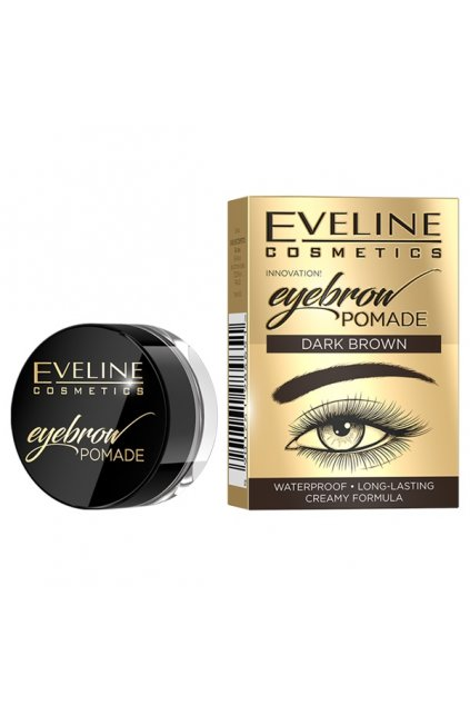 eveline cosmetics eyebrown pomade pomada na oboci darkbrown