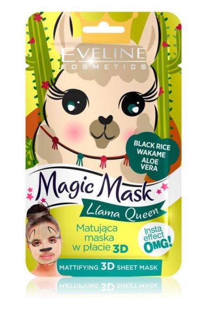 eveline cosmetics magic mask lama queen normalizujici matujici maska 3d